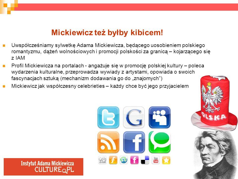 Mickiewicz też byłby kibicem! Uwspółcześniamy sylwetkę Adama Mickiewicza, będącego uosobieniem polskiego romantyzmu, dążeń wolnościowych i promocji po