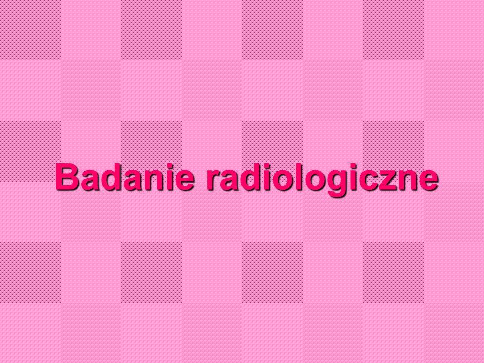 Cel wykonania badania rentgenowskiego w stomatologii dziecięcej: Wczesne wykrycie próchnicy, ocena stanu wypełnień Diagnostyka zaburzeń w rozwoju narządu żucia Diagnostyka zmian zapalnych w tkankach okołowierzchołkowych Ocena zębów po urazach Przed planowanym leczeniem endodontycznym Kontrolne badanie po leczeniu biologicznym miazgi lub wypełnienia kanału Wykrywanie patologicznych procesów toczących się w obrębie kości twarzy