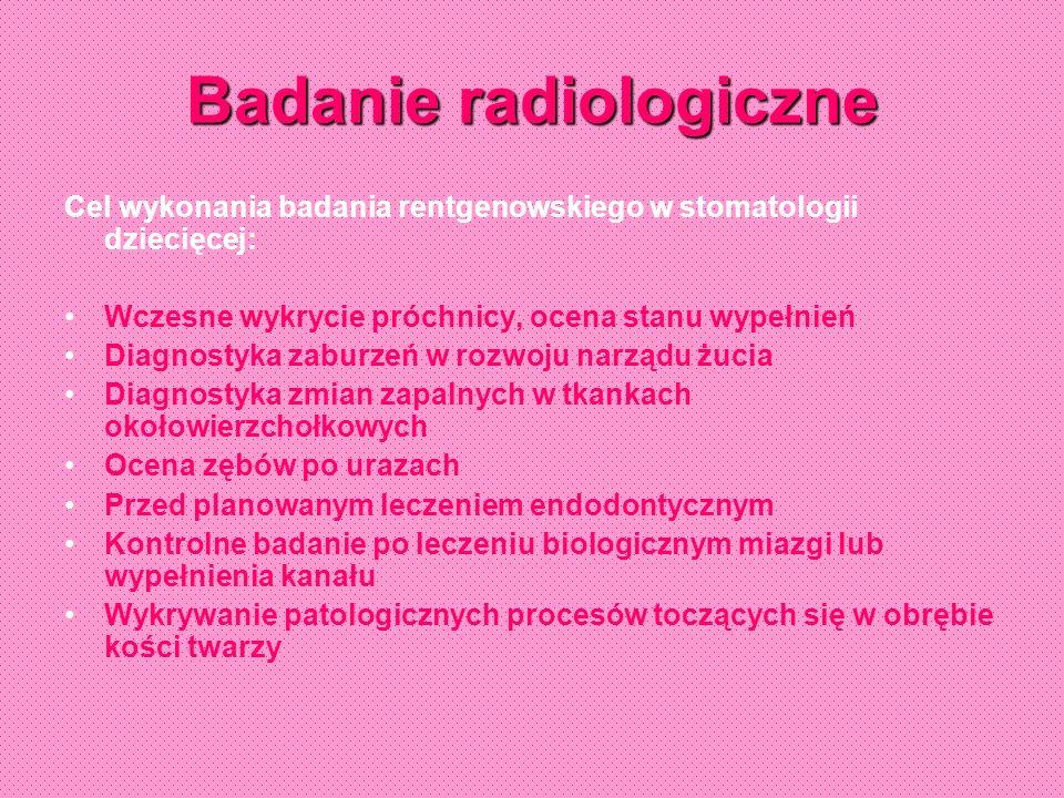 Obraz radiologiczny w różnych stadiach rozwoju narządu żucia okres nieuformowanego wierzchołka okres niezamkniętego wierzchołka
