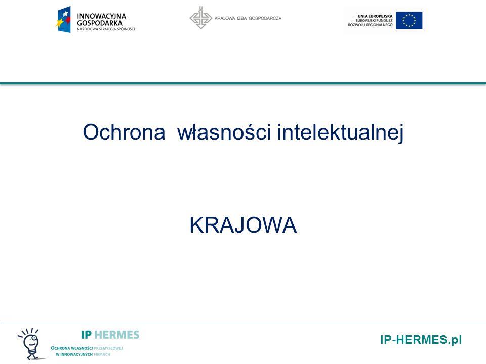 IP-HERMES.pl Rejestracja znaku towarowego w UP: publikacja po 6 miesiącach od daty zgłoszenia w UPRP świadectwo ochronne opłata za dziesięcioletni okres ochrony 350 zł za każdą klasę towarową (do trzech klas) i 400zł za każdą następną wpis prawa do rejestru