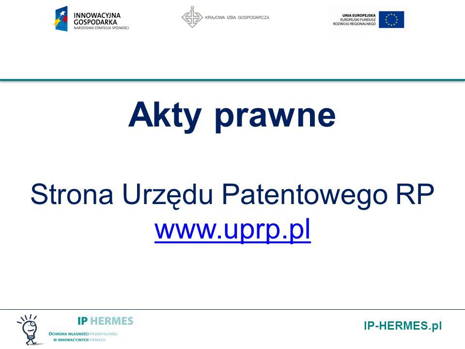 IP-HERMES.pl Struktura własności intelektualnej w RP (ochrona własności intelektualnej) 7 własność intelektualna RP własność przemysłowa (pwp) i (uoznk) własność przemysłowa (pwp) i (uoznk) własność autorsko prawna (paipp) własność autorsko prawna (paipp) Inne np.
