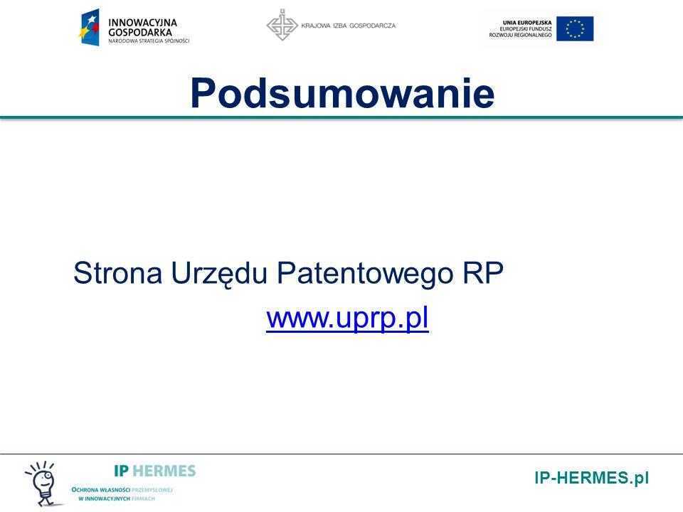 IP-HERMES.pl Podsumowanie Strona Urzędu Patentowego RP www.uprp.pl
