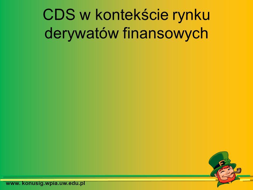 www. konusig.wpia.uw.edu.pl CDS w kontekście rynku derywatów finansowych