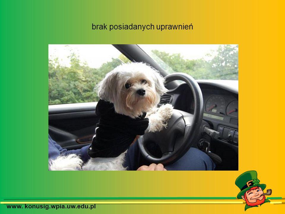 www. konusig.wpia.uw.edu.pl brak posiadanych uprawnień
