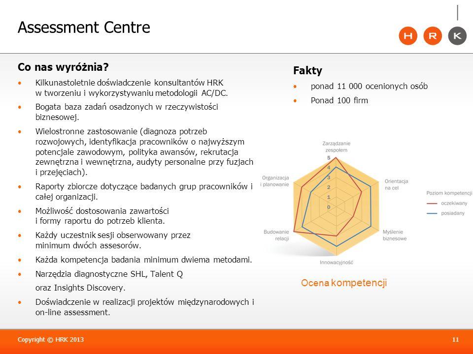Assessment Centre Co nas wyróżnia? Kilkunastoletnie doświadczenie konsultantów HRK w tworzeniu i wykorzystywaniu metodologii AC/DC. Bogata baza zadań