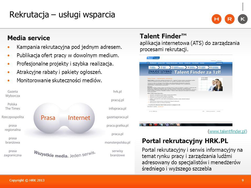 Rekrutacja – usługi wsparcia Media service Kampania rekrutacyjna pod jednym adresem. Publikacja ofert pracy w dowolnym medium. Profesjonalne projekty