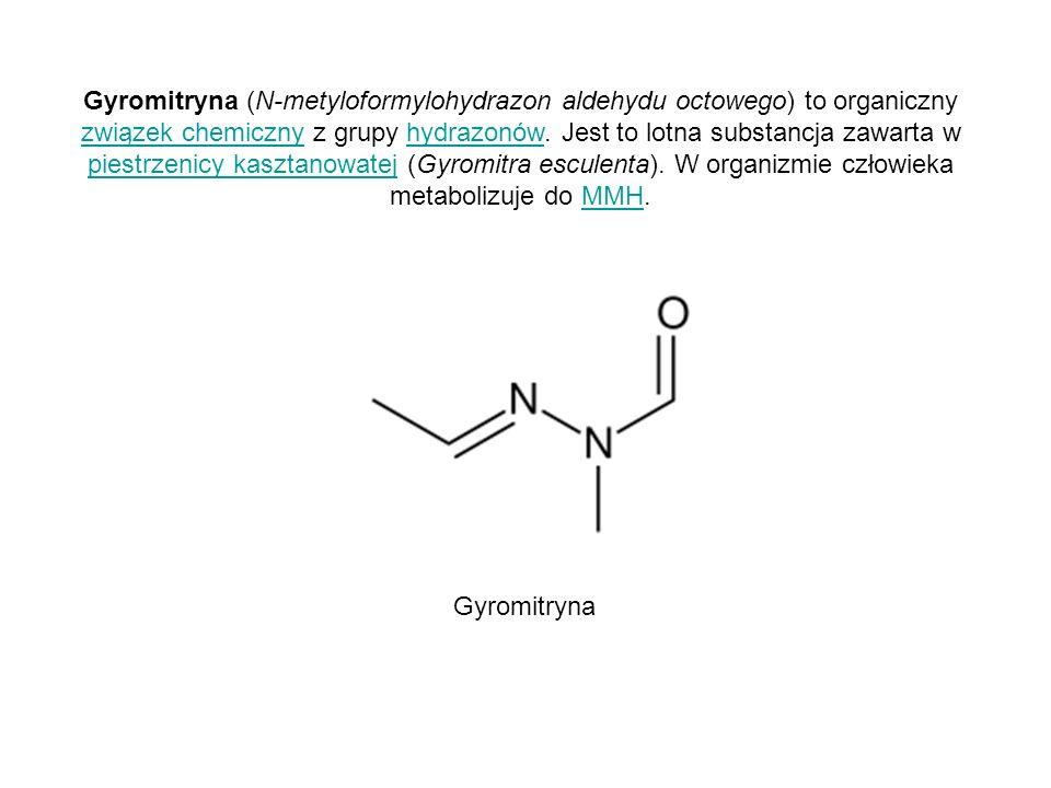 Gyromitryna (N-metyloformylohydrazon aldehydu octowego) to organiczny związek chemiczny z grupy hydrazonów. Jest to lotna substancja zawarta w piestrz