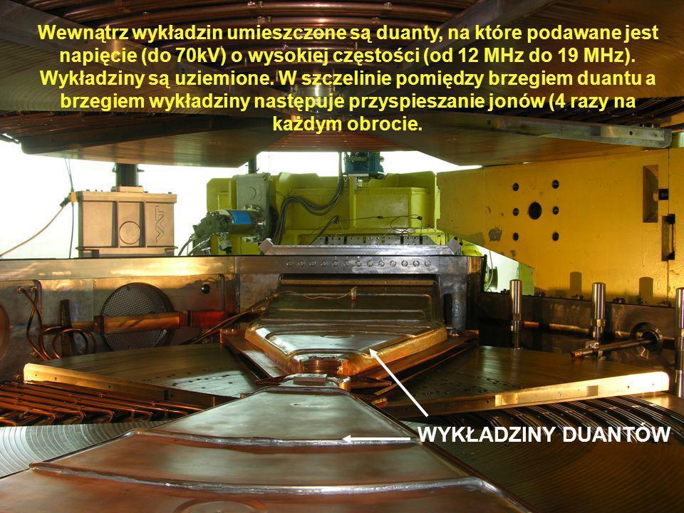 WYKŁADZINY DUANTÓW Wewnątrz wykładzin umieszczone są duanty, na które podawane jest napięcie (do 70kV) o wysokiej częstości (od 12 MHz do 19 MHz). Wyk