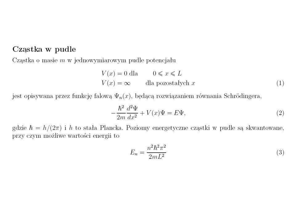 Potential Energy Surface (PES) Powierzchnia Energii Potencjalnej Tematy: 1.Definicja współrzędnych wewnętrznych (stopnie swobody) w molekułach 2.Jak je obliczamy.