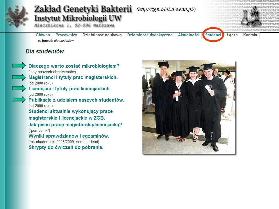 (http://zgb.biol.uw.edu.pl/)