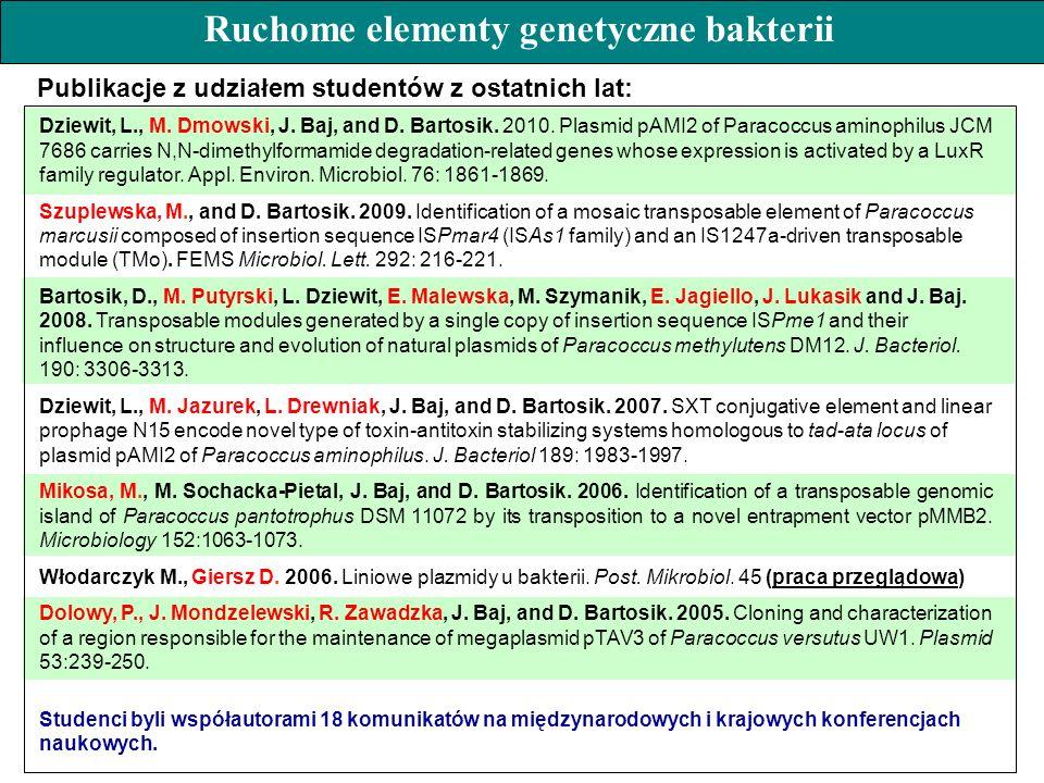 Dziewit, L., M. Dmowski, J. Baj, and D. Bartosik. 2010. Plasmid pAMI2 of Paracoccus aminophilus JCM 7686 carries N,N-dimethylformamide degradation-rel