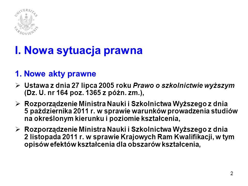 III 11.Matryca efektów kształcenia Zarządzenie nr 44 Rektora UW z dnia 26 października 2011 r.