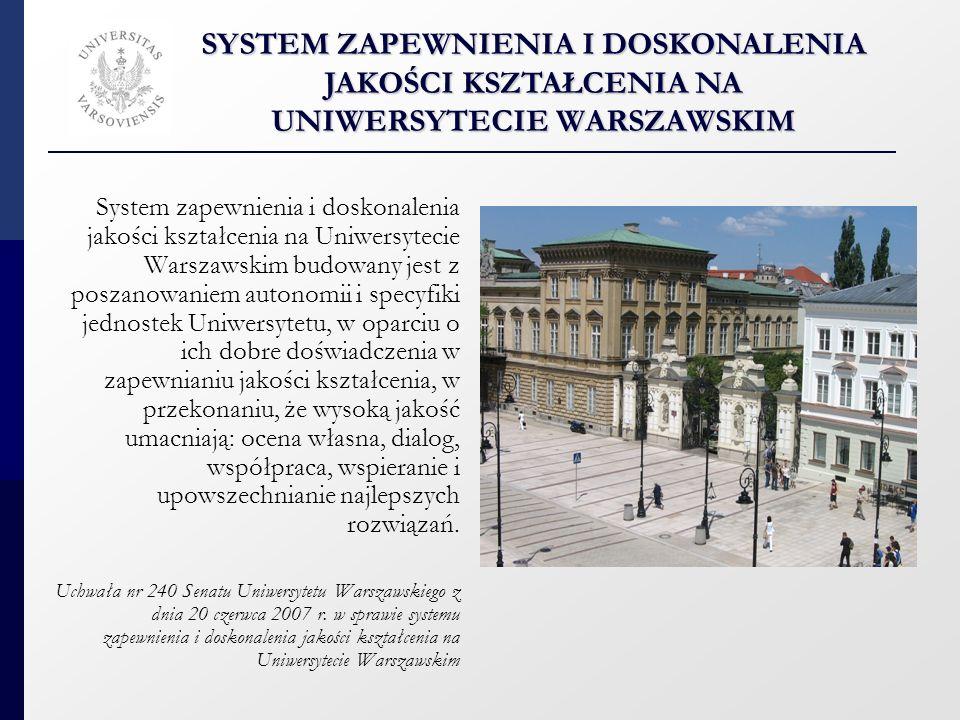 Akty prawne Uchwała nr 240 Senatu Uniwersytetu Warszawskiego z dnia 20 czerwca 2007 r.