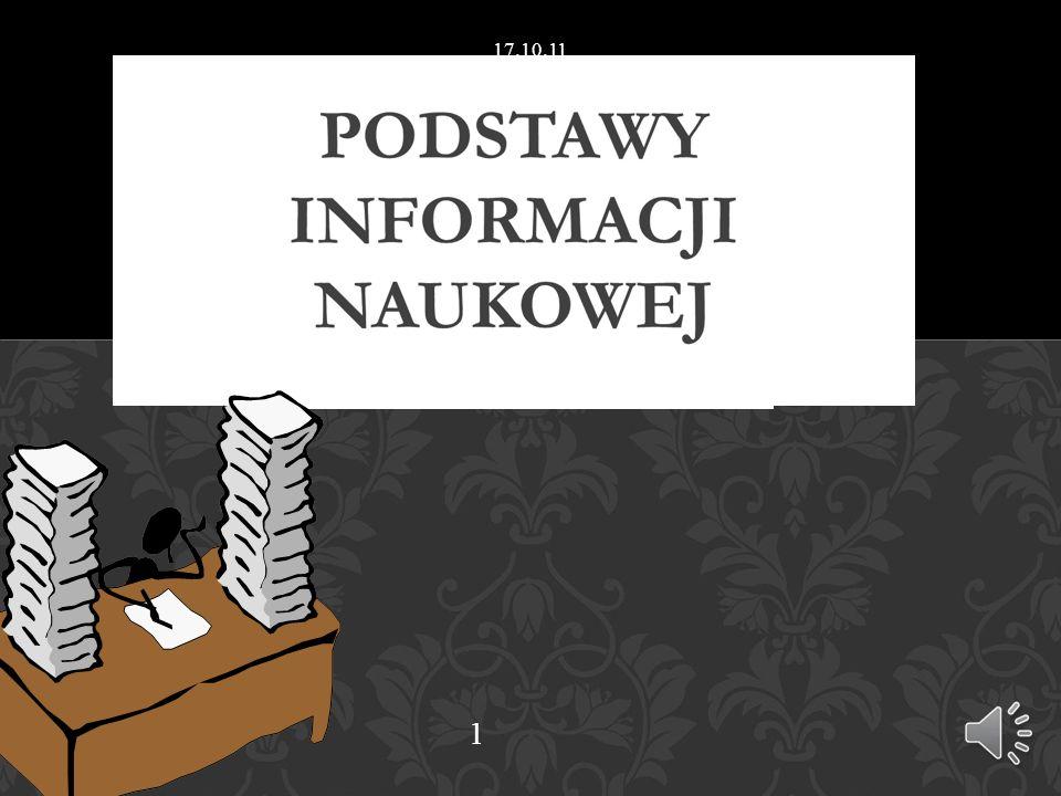 Bazy bibliograficzne – polskie: http://www.bj.uj.edu.pl/var/bibl_dziedz1_pl.php Bazy pełnotekstowe – biblioteki cyfrowe, e-książki (i-buk), czasopisma elektroniczne: Pakiety : http://atoz.ebsco.com/providerindex.asp?id=4623&sid=21621016 6&TabID=1 Dziedzinowo politologia: http://atoz.ebsco.com/Subjects.asp?id=4623&sid=249140783&lan g=&lang.subject=&lang.menu=&Subject=26223 ICM – Biblioteka Wirtualna Nauki ICM – Science Direct ICM Przydatne zakładki na STRONIE INTERNETOWEJ BIBLIOTEKI WDINP Przydatne zakładki na STRONIE INTERNETOWEJ BIBLIOTEKI WDINP BAZY DANYCH 17.10.11 31