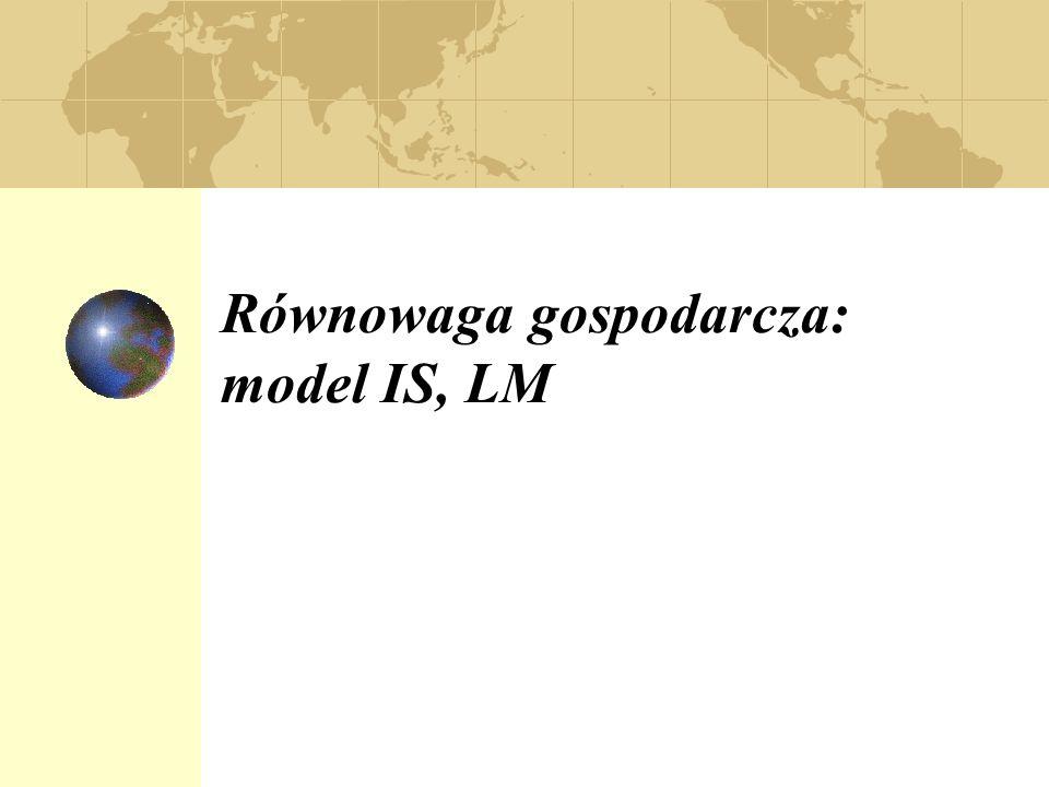 Równowaga gospodarcza: model IS, LM