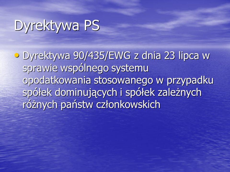Dyrektywa PS Orzeczenie w sprawie Epson Europe BV C- 375/98 Orzeczenie w sprawie Epson Europe BV C- 375/98