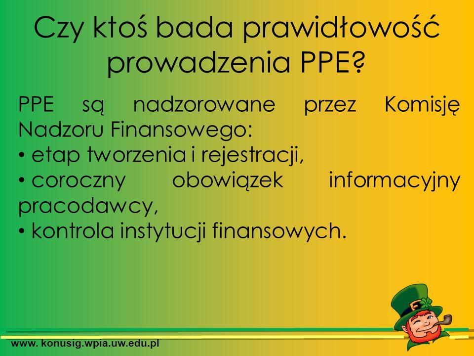 Czy ktoś bada prawidłowość prowadzenia PPE? PPE są nadzorowane przez Komisję Nadzoru Finansowego: etap tworzenia i rejestracji, coroczny obowiązek inf