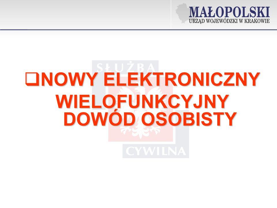 NOWY ELEKTRONICZNY NOWY ELEKTRONICZNY WIELOFUNKCYJNY DOWÓD OSOBISTY