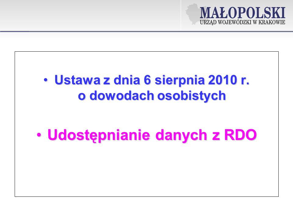 Ustawa z dnia 6 sierpnia 2010 r.o dowodach osobistychUstawa z dnia 6 sierpnia 2010 r.
