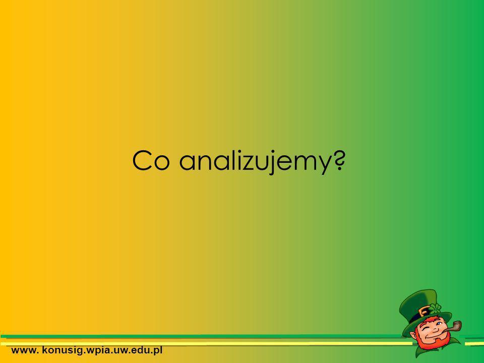 Co analizujemy? www. konusig.wpia.uw.edu.pl