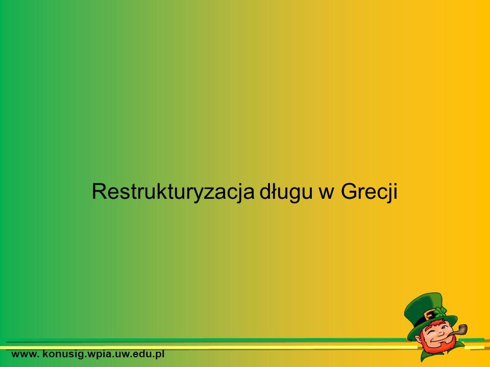 www. konusig.wpia.uw.edu.pl Restrukturyzacja długu w Grecji