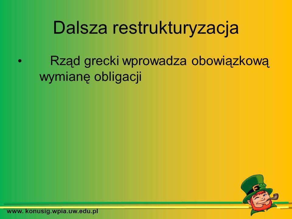www. konusig.wpia.uw.edu.pl Dalsza restrukturyzacja Rząd grecki wprowadza obowiązkową wymianę obligacji