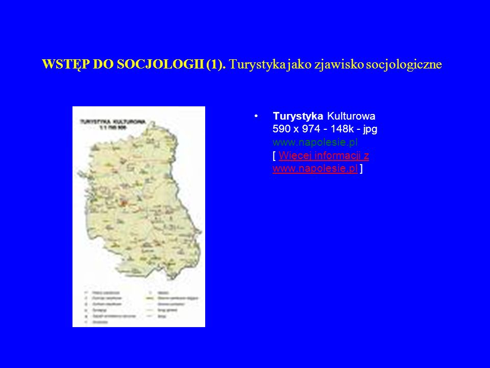WSTĘP DO SOCJOLOGII (1). Turystyka jako zjawisko socjologiczne Turystyka Kulturowa 590 x 974 - 148k - jpg www.napolesie.pl [ Więcej informacji z www.n
