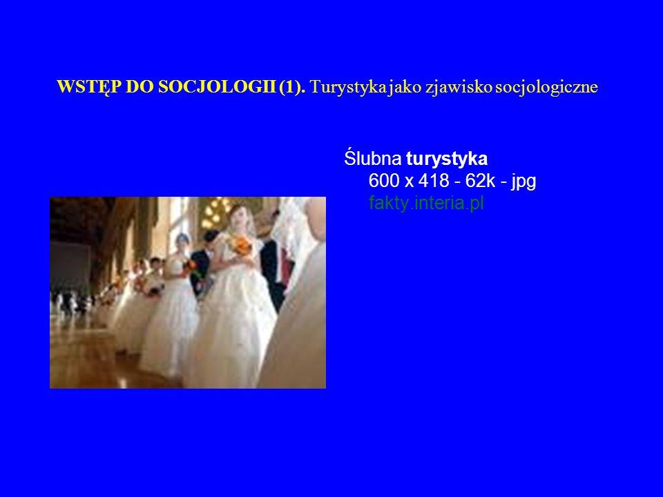 WSTĘP DO SOCJOLOGII (1). Turystyka jako zjawisko socjologiczne Ślubna turystyka 600 x 418 - 62k - jpg fakty.interia.pl
