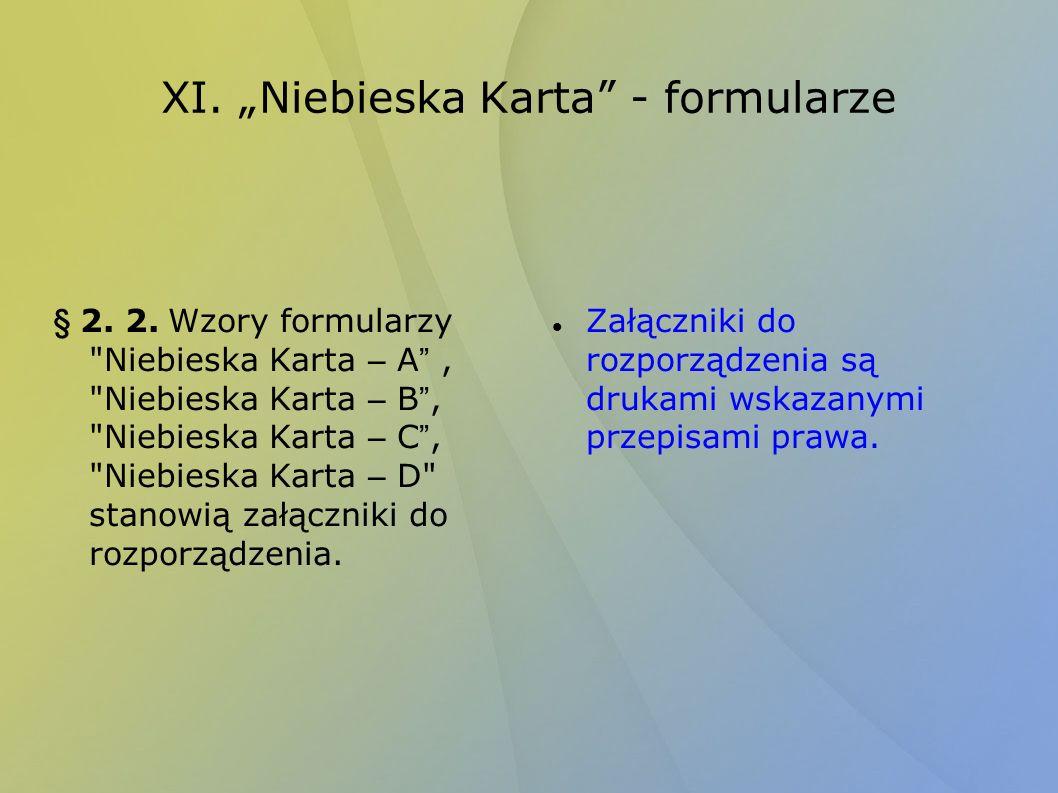 XI. Niebieska Karta - formularze § 2. 2. Wzory formularzy