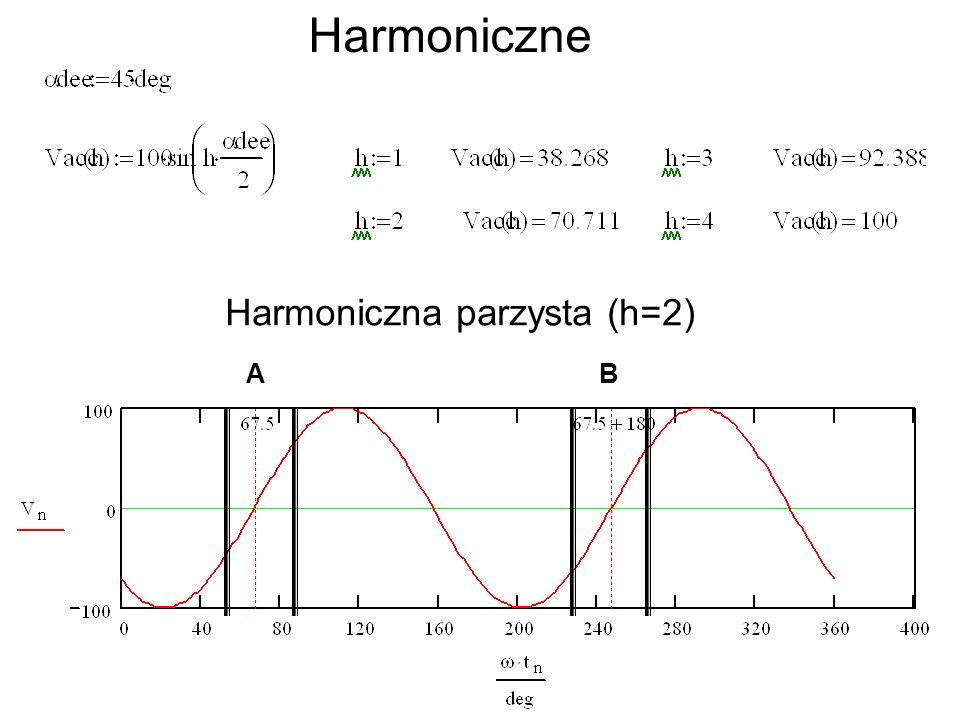 Harmoniczne Harmoniczna parzysta (h=2) AB