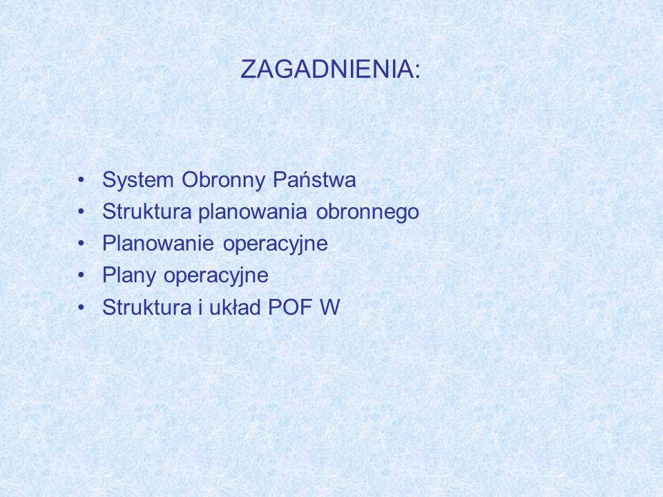 UKŁAD TREŚCI PLANÓW OPERACYJNYCH Strona tytułowa 2 Arkusz uzgodnień 3 Tabela zmian aktualizacyjnych 1 Ustalenia dotyczące prawa wglądu do planu i prowadzenia prac planistycznych z jego wykorzystaniem 4 Akty prawne stanowiące podstawę opracowania planu oraz dotyczące sposobu realizacji zadań operacyjnych ujętych w planie 5 Terminy i definicje 6 Symbole i formy skrócone stosowane w planie operacyjnym