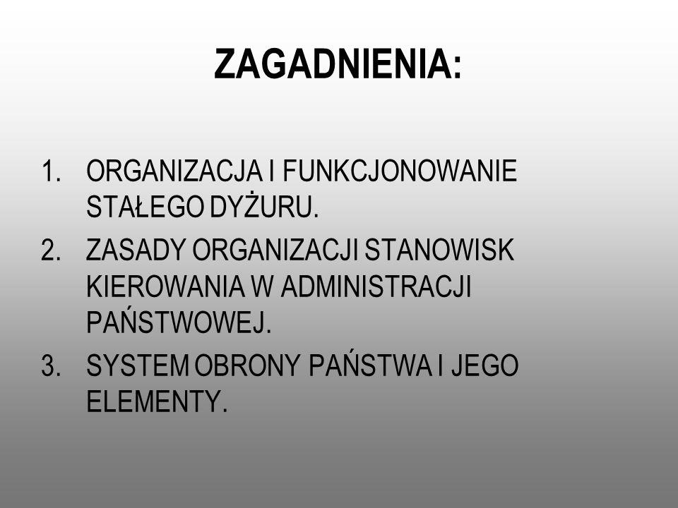 PODSTAWY PRAWNE: Konstytucja Rzeczypospolitej Polskiej; Ustawa z dnia 21 listopada 1967 r.