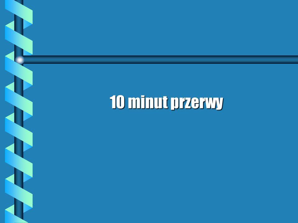 10 minut przerwy
