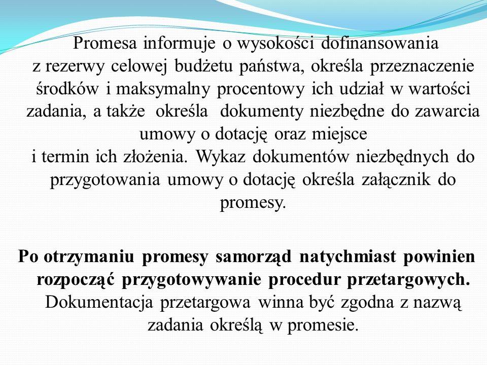 Następnie Wojewoda przesyła Ministrowi zbiorcze zestawienie zgłaszanych potrzeb z terenu województwa zawierające dane zgodnie z otrzymanymi informacja