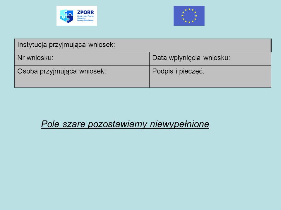 ( 2_) Fundusz strukturalny: Należy wpisać pełną nazwę funduszu strukturalnego: Europejski Fundusz Rozwoju Regionalnego (3_) Program Operacyjny: Należy wpisać pełną nazwę programu operacyjnego: Zintegrowany Program Operacyjny Rozwoju Regionalnego (4_) Priorytet: Należy podać nazwę Priorytetu ZPORR w ramach którego jest realizowany projekt.