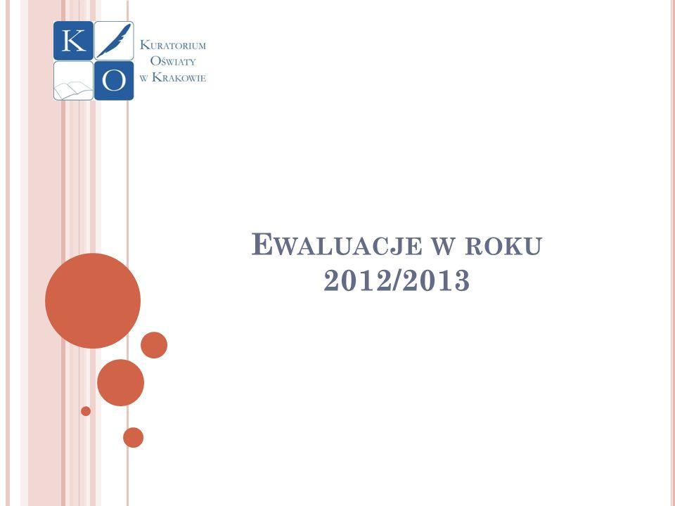 Liczba przeprowadzonych ewaluacji (do 31 maja 2013r) dane statystyczne Lp.