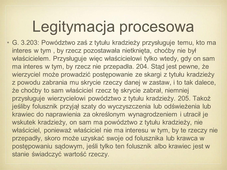 Legitymacja procesowa G.