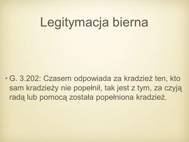 Legitymacja bierna G.