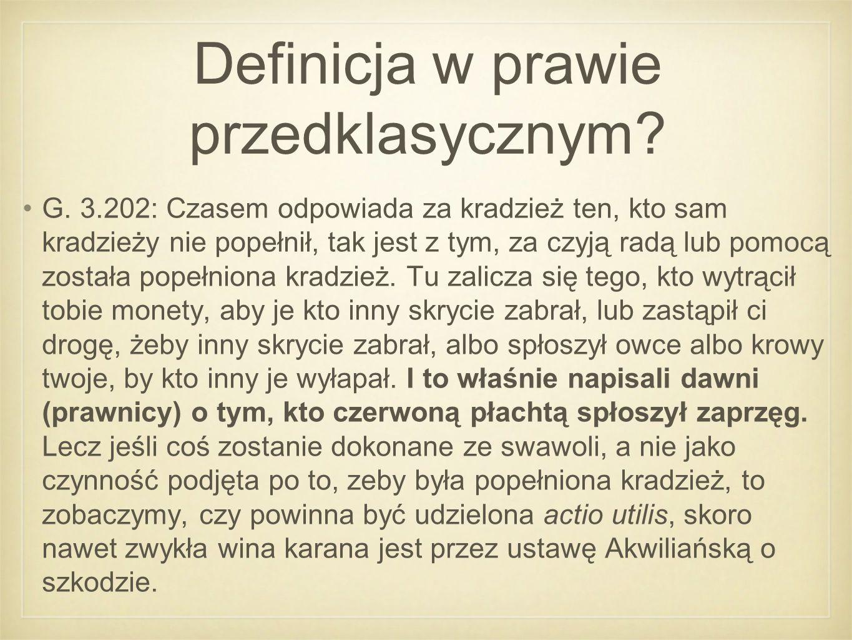 Definicja w prawie przedklasycznym. G.