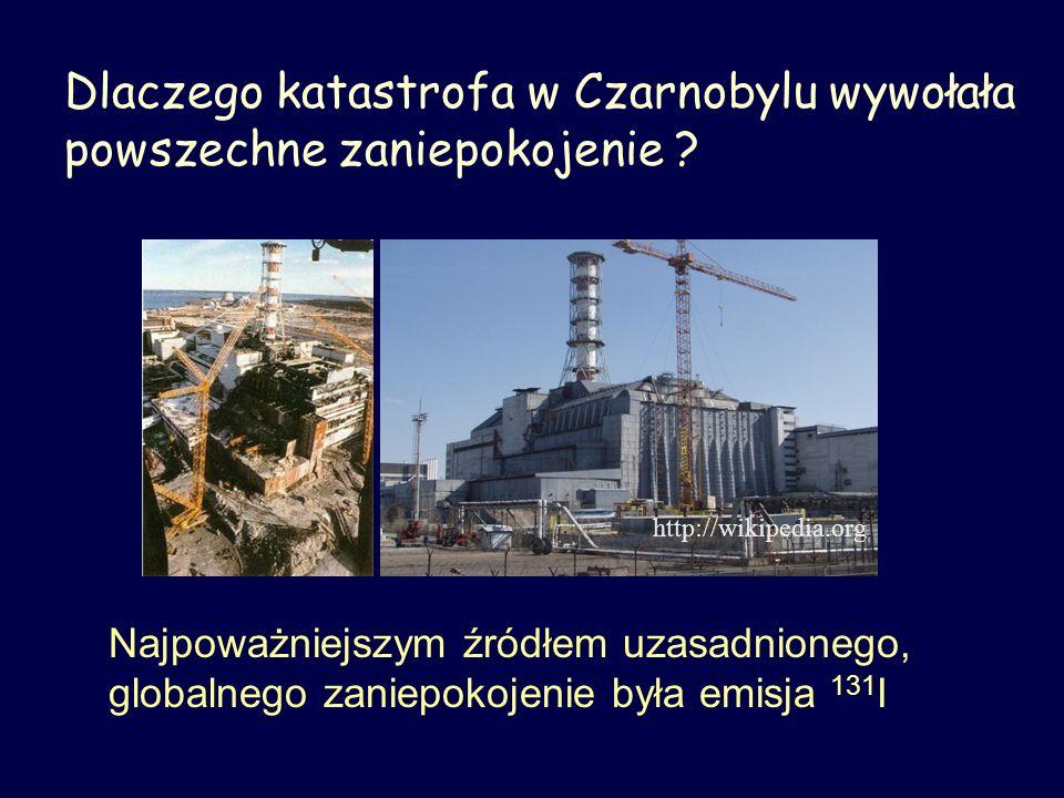Dlaczego katastrofa w Czarnobylu wywołała powszechne zaniepokojenie ? http://wikipedia.org Najpoważniejszym źródłem uzasadnionego, globalnego zaniepok