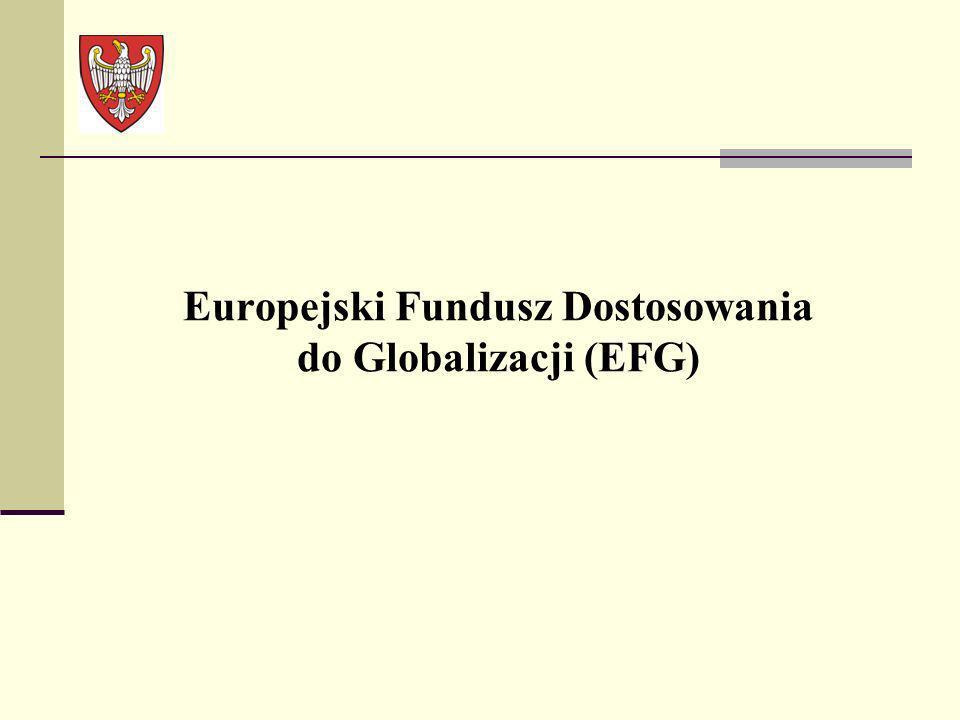 Europejski Fundusz Dostosowania do Globalizacji (EFG)