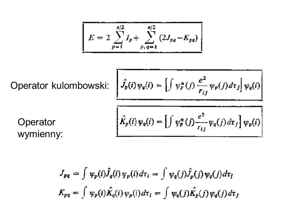 METODY ZAAWANSOWANE, UWZGLEDNIAJACE KORELACJE ELEKTRONOW Full CI - full CI - wszystkie możliwe wzbudzenia CIS, SD CI - singles, singles+doubles - wszystkie pojedyncze i podwójne MCSCF, CASSCF, MRCI - wielokonfiguracyjny SCF pełny wielokonfiguracyjny SCF, wieloreferencyjne CI CCSD, CCSDT, CCSDTQ - metoda sprzężonych klastrów.