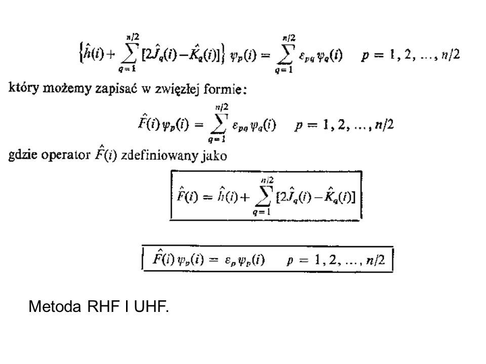 Funkcje polaryzacyjne (oznaczane *) Przykłady: bazy 3-21G*, 6-31G*, 6-31G**
