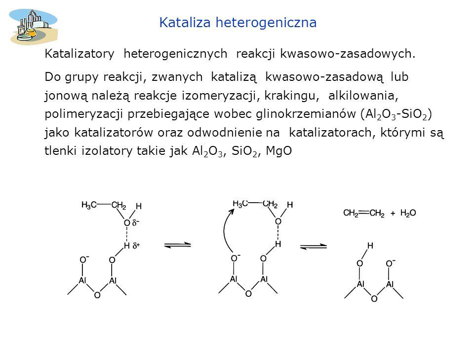 Kataliza heterogeniczna Krystaliczne glinokrzemiany naturalne i sztuczne - zeolity o wzorze ogólnym: M 2 /nO.