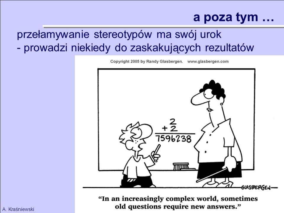 53A. Kraśniewski a poza tym … przełamywanie stereotypów ma swój urok - prowadzi niekiedy do zaskakujących rezultatów