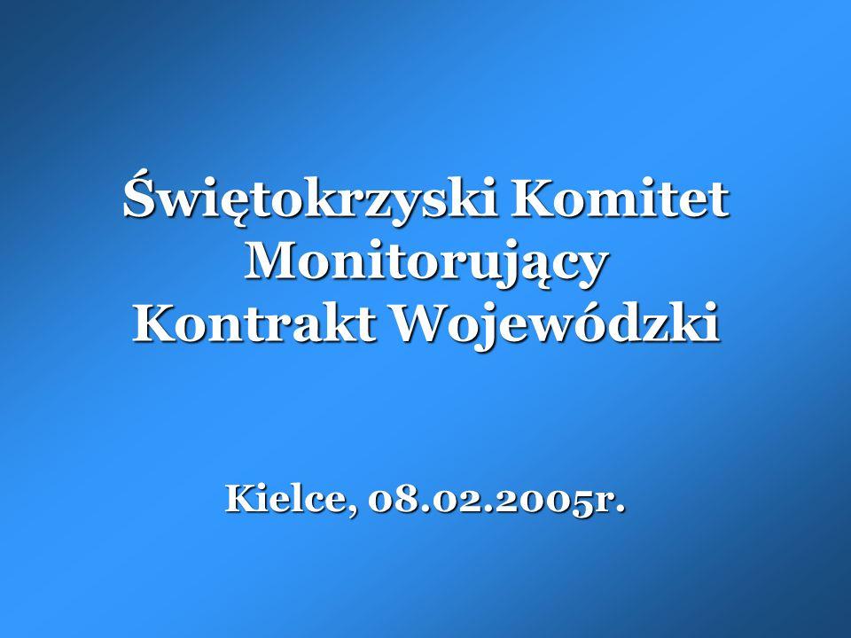 Świętokrzyski Komitet Monitorujący Kontrakt Wojewódzki Kielce, 08.02.2005r.