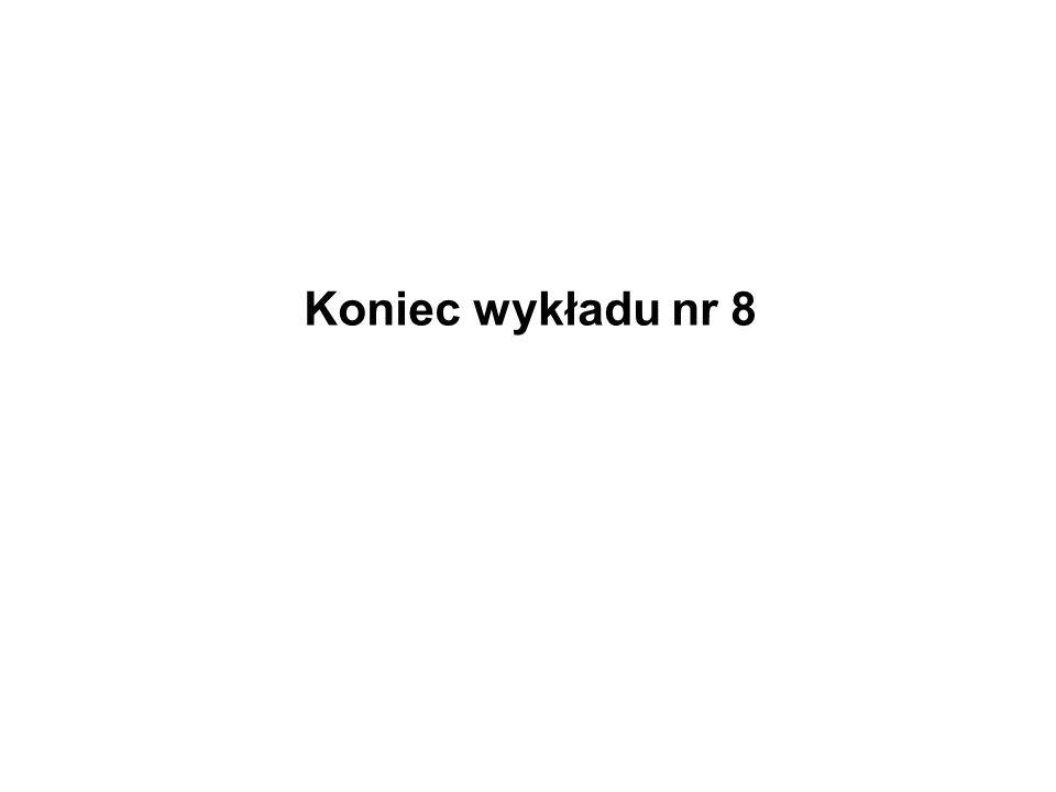 Koniec wykładu nr 8