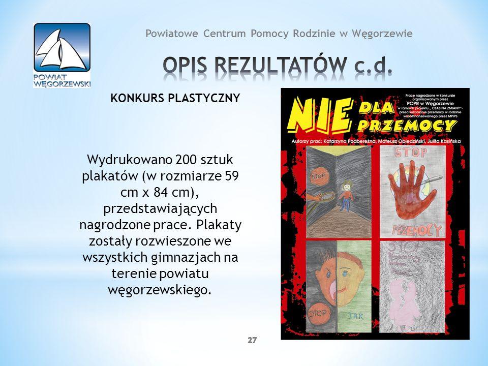27 Wydrukowano 200 sztuk plakatów (w rozmiarze 59 cm x 84 cm), przedstawiających nagrodzone prace. Plakaty zostały rozwieszone we wszystkich gimnazjac