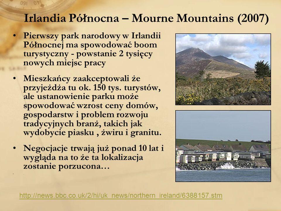 Irlandia Północna – Mourne Mountains (2007) Pierwszy park narodowy w Irlandii Północnej ma spowodować boom turystyczny - powstanie 2 tysięcy nowych mi