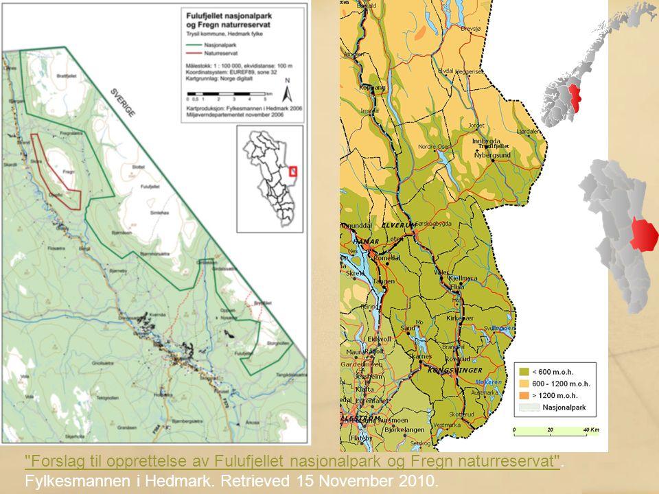 Tysfjord–Hellemobotn (Nordland) ~1000 km 2 Konieczność uwzględnienia interesów społeczności Saami, m.in..